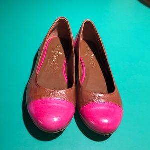 Cole Haan Brown & Pink Leather Ballet Flats sz7.5